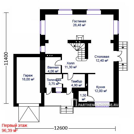 Дом по проекту монца